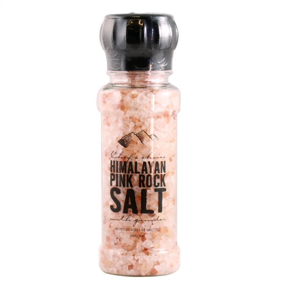 Chef's Choice Himalayan Pink Rock Salt with Grinder 200g-Chef's Choice-Fresh Connection