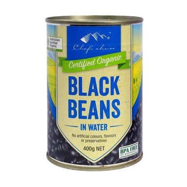 Chef's Choice Organic Black Beans in Water 400g-Chef's Choice-Fresh Connection