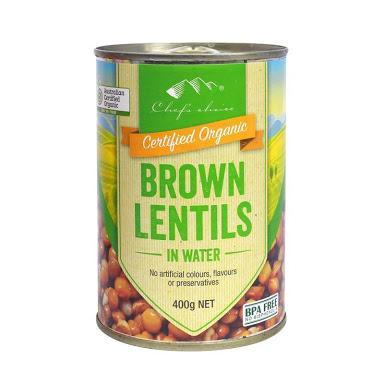 Chef's Choice Organic Brown Lentils in water 400g-Chef's Choice-Fresh Connection