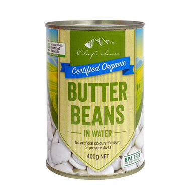 Chef's Choice Organic Butter Beans 400g-Groceries-Chef's Choice-Fresh Connection