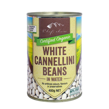 Chef's Choice Organic Cannelini Beans 400g-Groceries-Chef's Choice-Fresh Connection