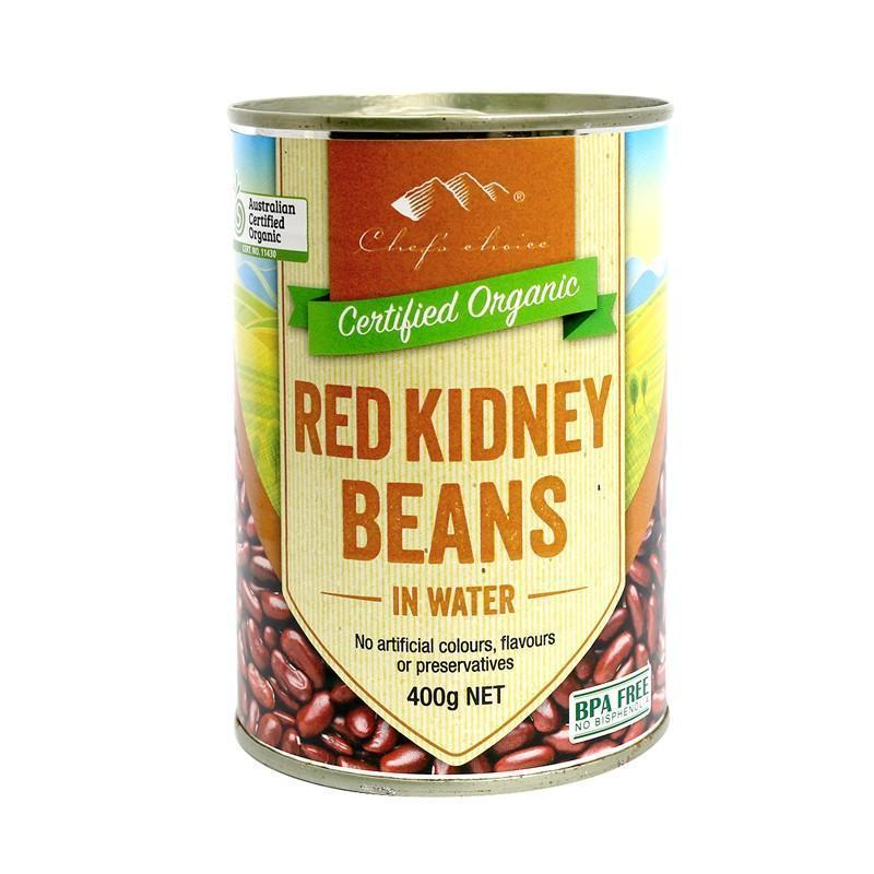 Chef's Choice Organic Red Kidney Beans in Water 400g-Chef's Choice-Fresh Connection