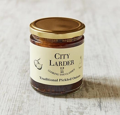 City Larder traditional pickled onions 265g-Groceries-City Larder-Fresh Connection