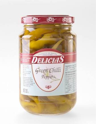 Delicias Green Chilli Peppers 280g-Delicias-Fresh Connection