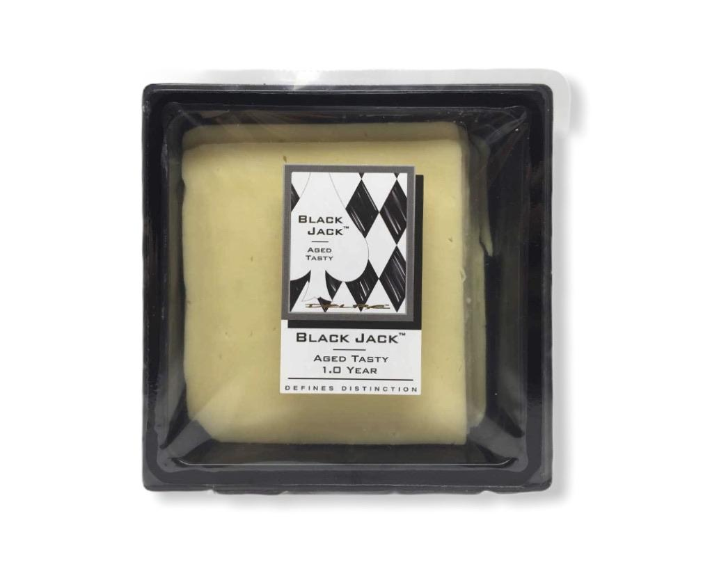 Delre Black Jack Sliced Aged Cheddar 1.0 YEARS 250g-Groceries-Delre-Fresh Connection