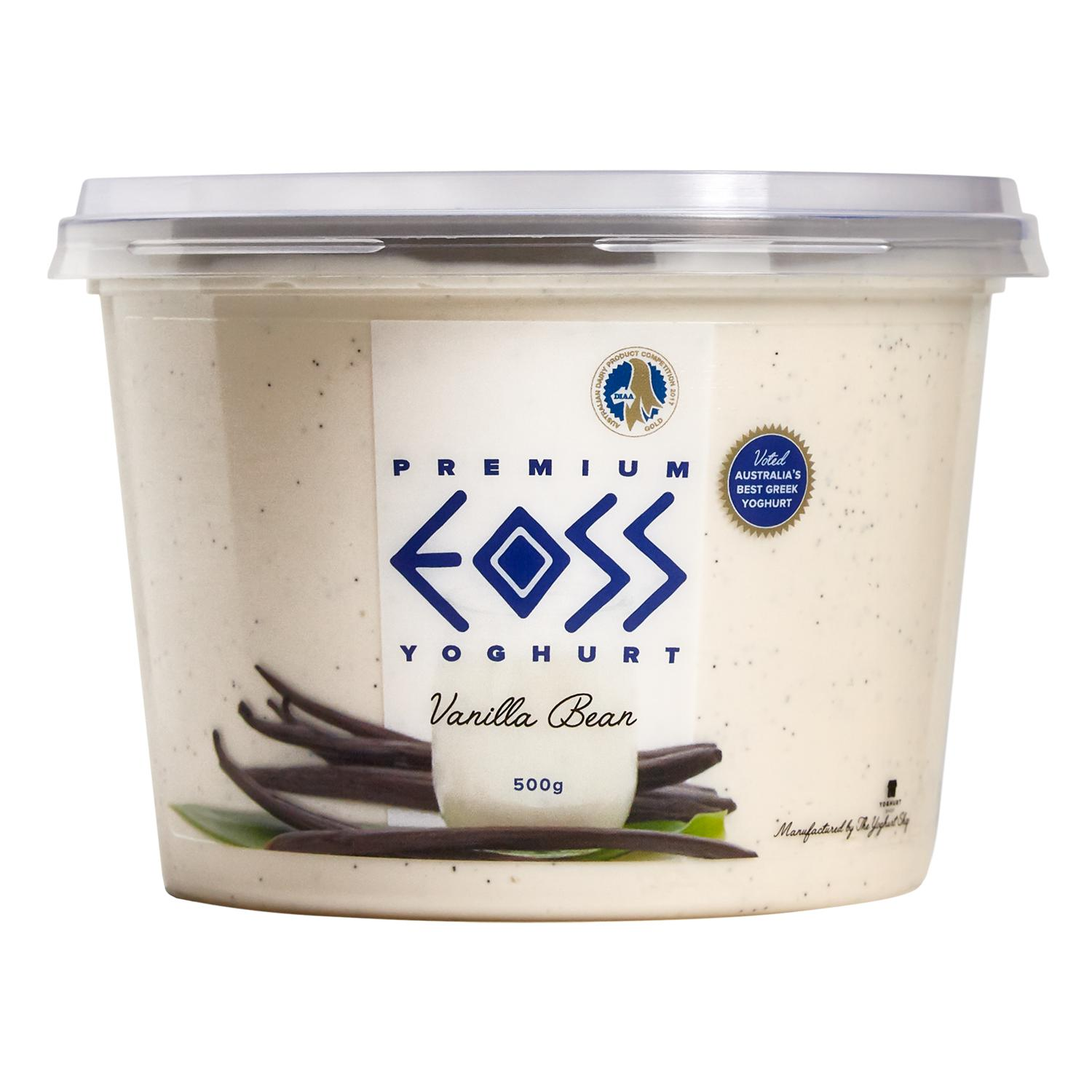 EOSS Yoghurt Vanilla Bean Tub 500g-Groceries-EOSS Yoghurt-Fresh Connection