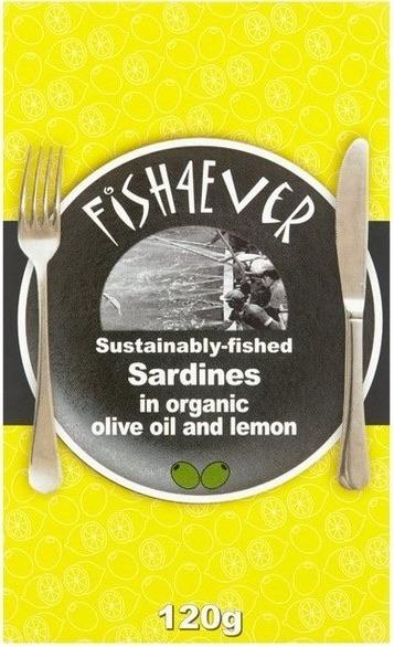 Fish4Ever Sardines in Organic Olive Oil & Lemon ~ 120g MSC Certified-Groceries-Fish 4 Ever, Firstray-Fresh Connection