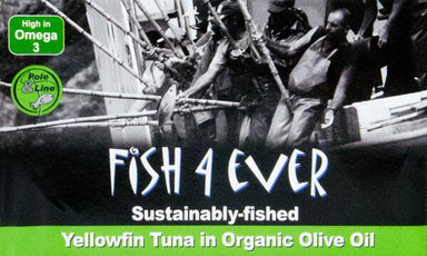 Fish4Ever Sustainably-Fished Yellowfin Tuna in Organic Olive Oil 120g-Groceries-Fish 4 Ever, Firstray-Fresh Connection
