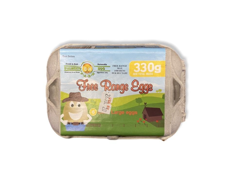 Free Range D'Alberto Eggs 1/2 doz 350g-Groceries-D'Alberto-Fresh Connection