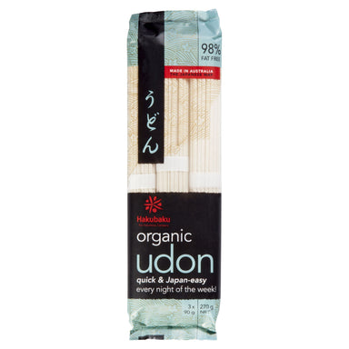 Hakubaku Organic Udon Noodles 270g-Hakubaku Organic-Fresh Connection