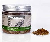 HENRY LANGDON Sea Salt Rub Smoked Paprika and Basil - 180g-Groceries-Henry Langdon-Fresh Connection