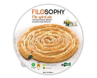 Ioniki FiloSophy Frozen Filo Spinach & Feta Spiral Pie 850g-Groceries-Ioniki FiloSophy-Fresh Connection