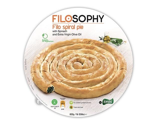 Ioniki FiloSophy Frozen Filo Spiral Pie with Spinach and Extra Virgin Olive Oil 850g-Groceries-Ioniki FiloSophy-Fresh Connection