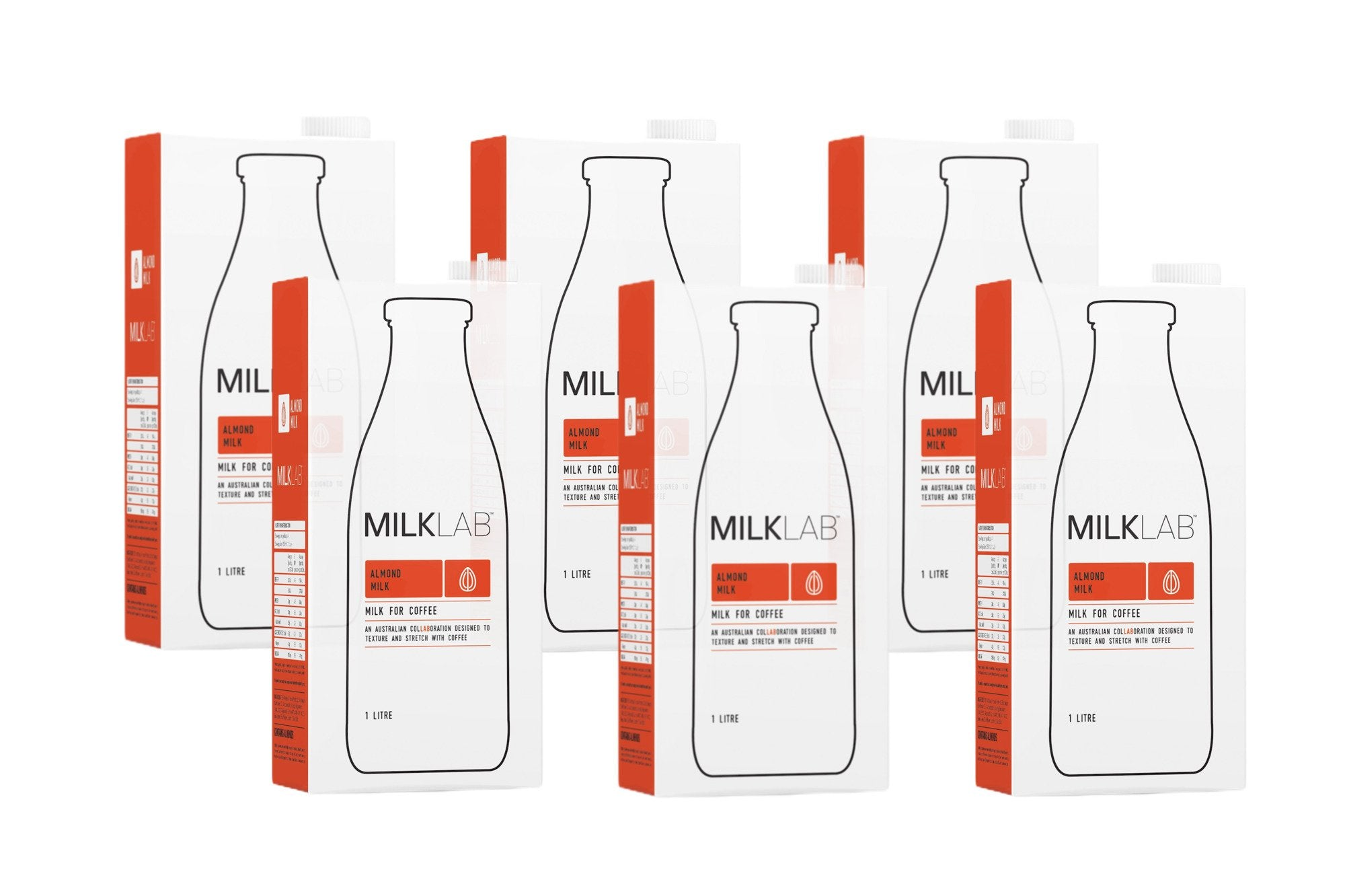 MILKLAB Almond Milk (6 X 1L)-Groceries-MILKLAB-Fresh Connection