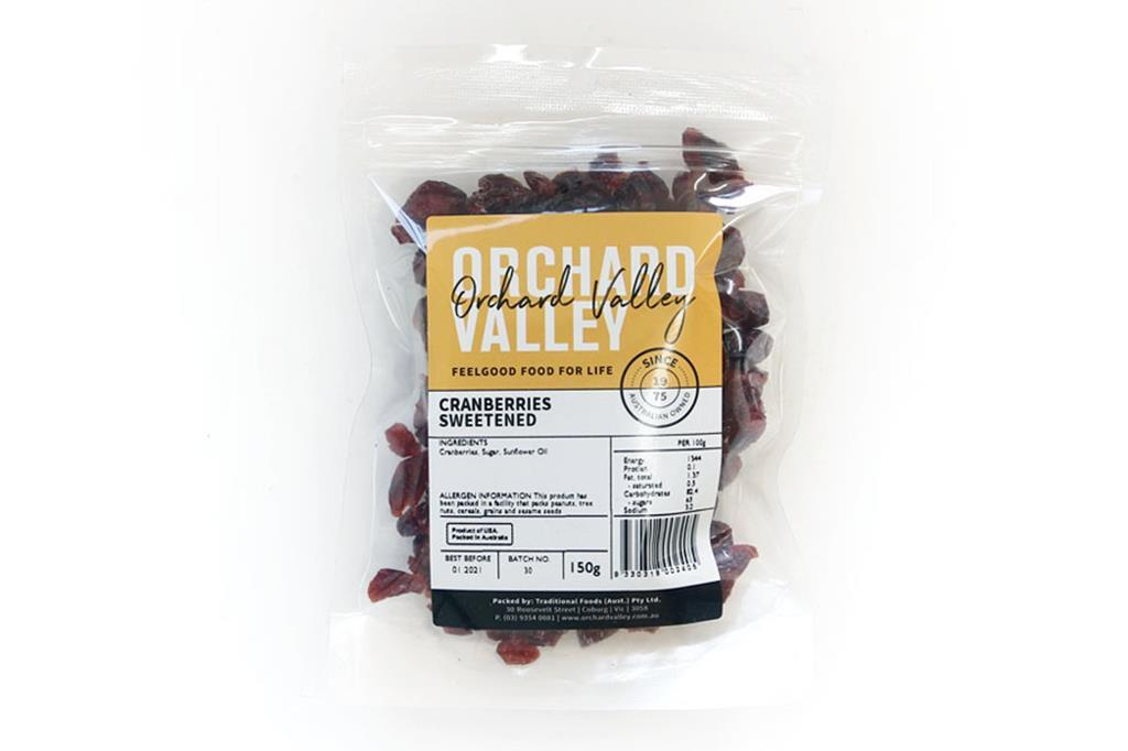 Orchard Valley Dried Cranberries 150g-Groceries-Orchard Valley-Fresh Connection
