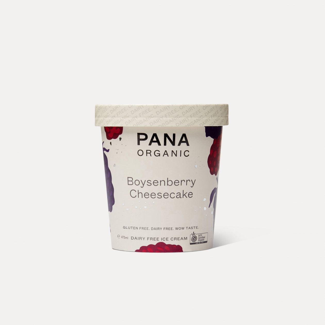 PANA ORGANIC Boysenberry Cheesecake Dairy Free Ice Cream 475ml-Groceries-PANA Organic-Fresh Connection