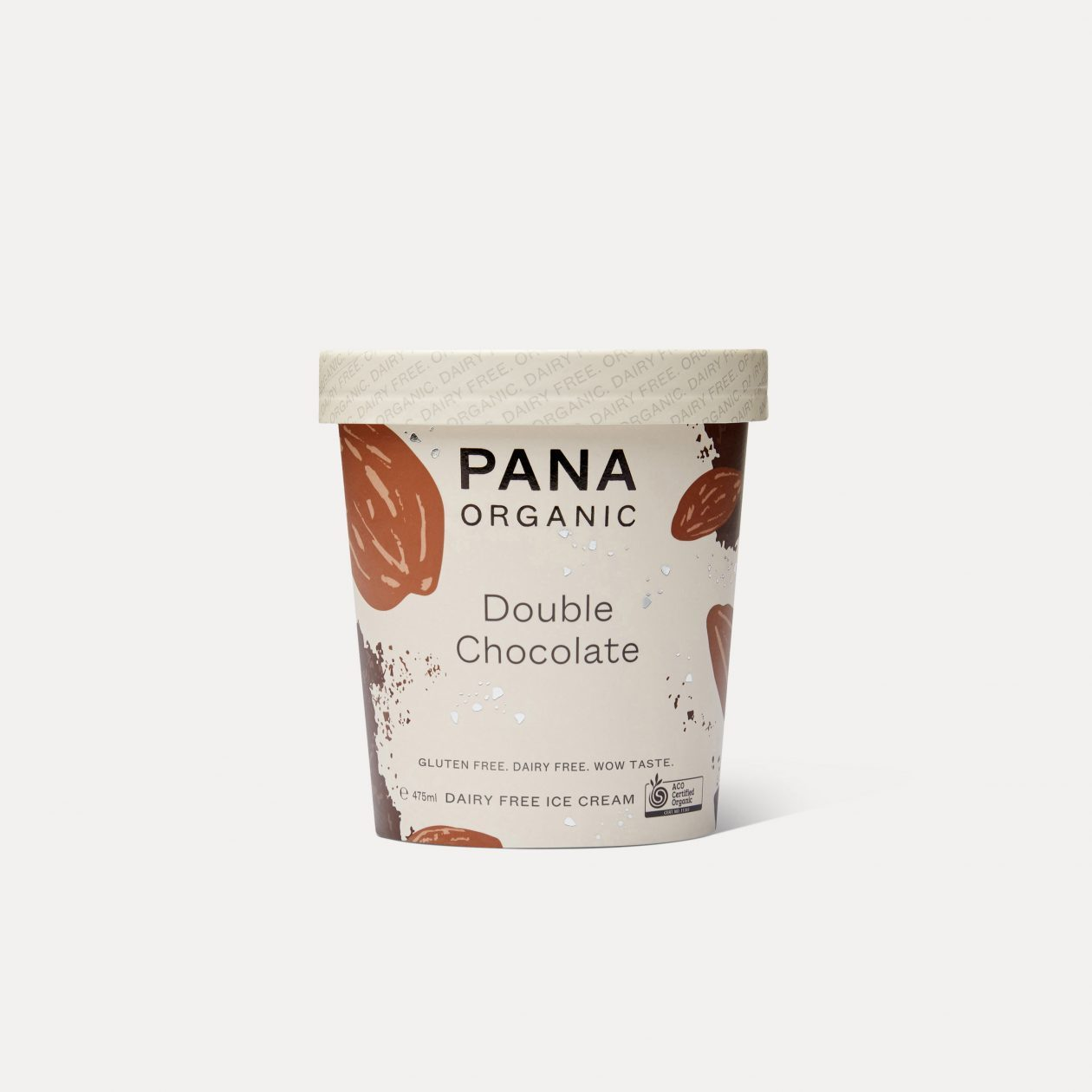 PANA ORGANIC Double Chocolate Dairy Free Ice Cream 475ml-Groceries-PANA Organic-Fresh Connection