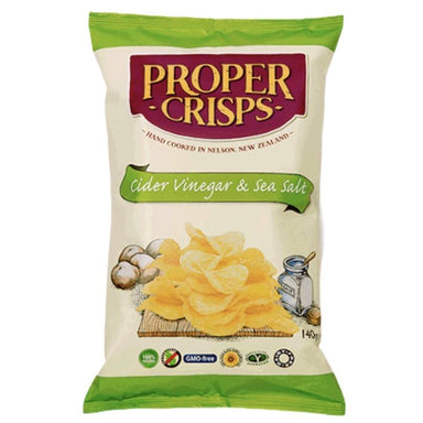 Proper Crisps Cider Vinegar & Sea Salt 150g-Groceries-Proper Crisps-Fresh Connection