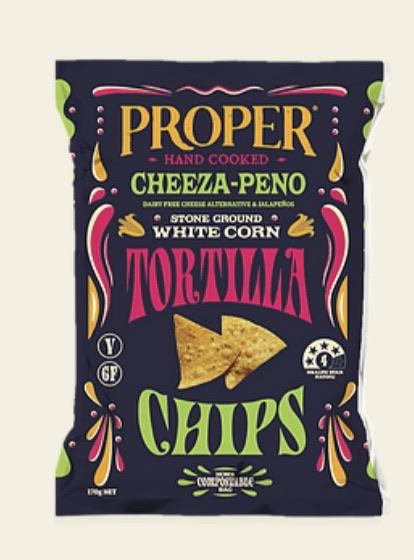Proper Tortillas (Jalapeño) 160g-Groceries-Proper Crisps-Fresh Connection