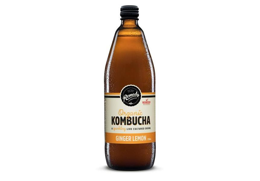 Remedy Kombucha Ginger Lemon 750mL-Remedy Kombucha-Fresh Connection