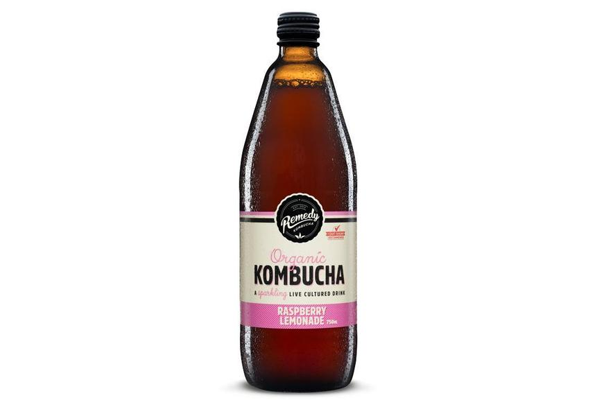 Remedy Kombucha Raspberry Lemonade 750ml-Remedy Kombucha-Fresh Connection