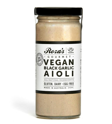 ROZA'S Vegan Black Garlic Aioli 240ml-Groceries-Roza's-Fresh Connection