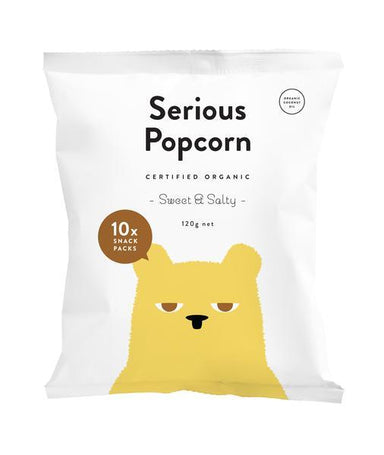 Serious Popcorn - Sweet & Salty - 10 x snack packs 120g-Serious Popcorn-Fresh Connection
