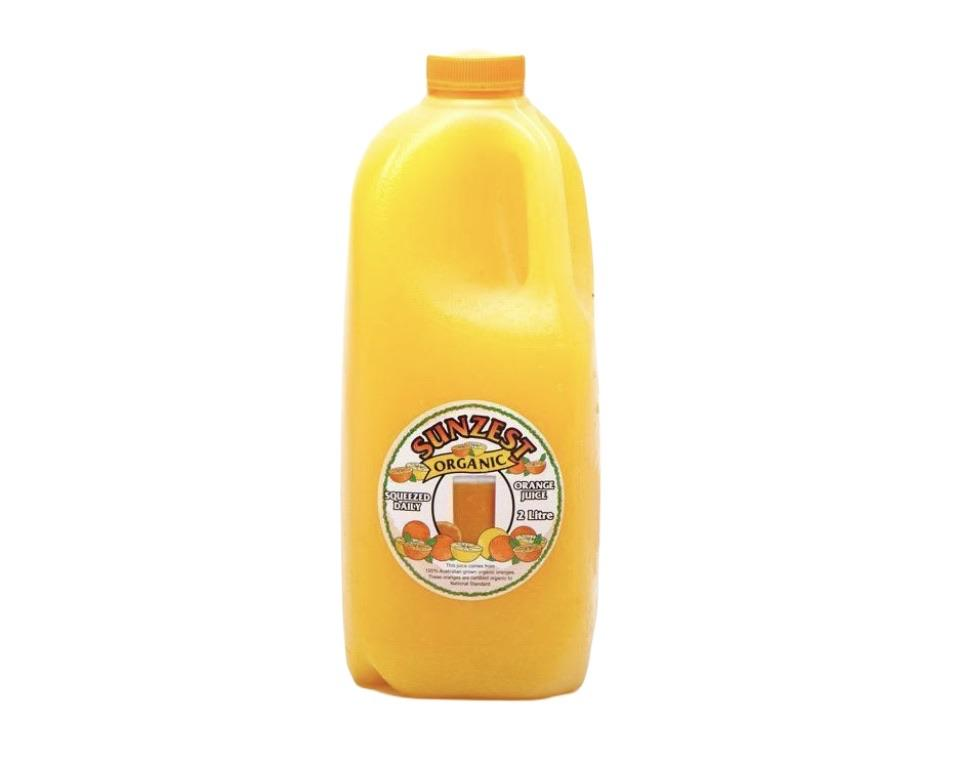 Sunzest Organic Orange Juice 2L-Groceries-Sunzest-Fresh Connection