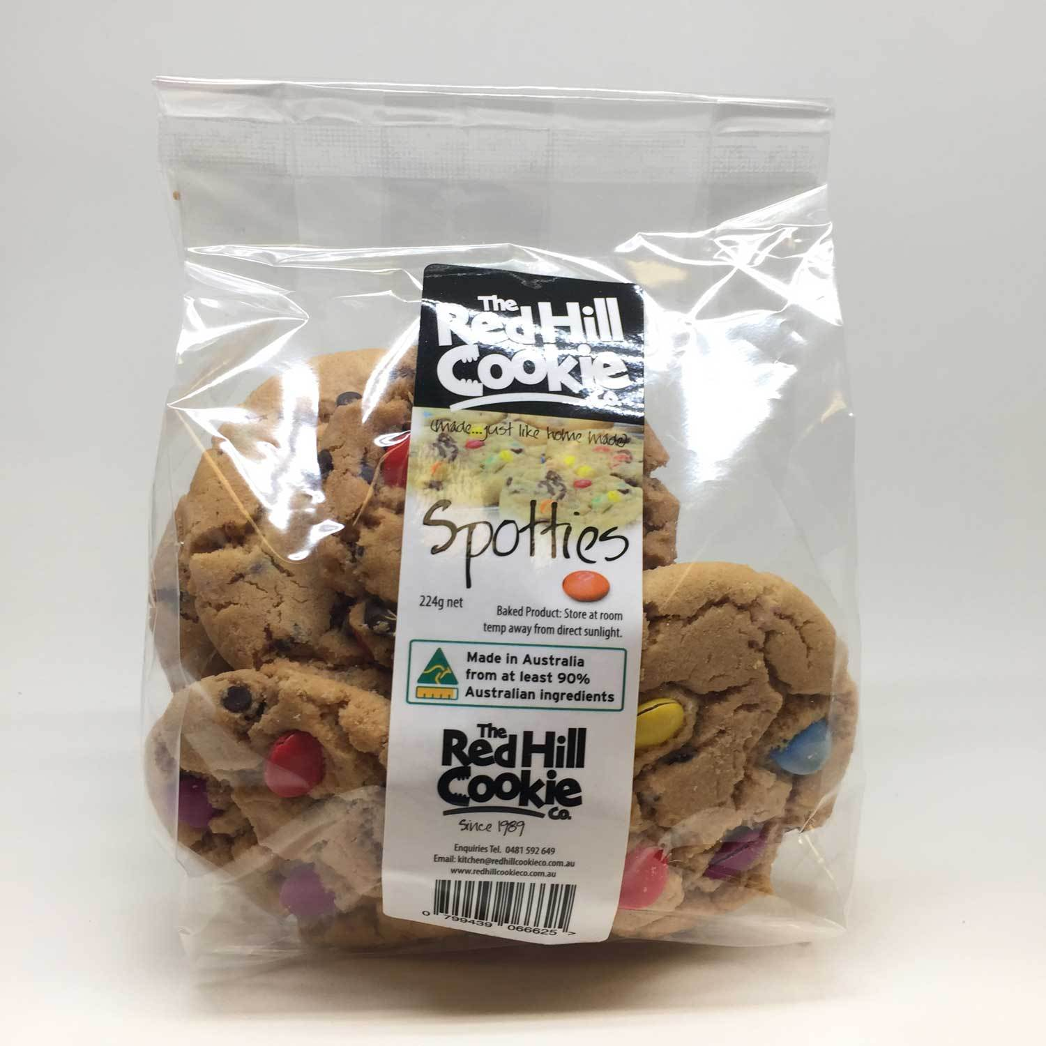 The Red Hill Cookie Co Spotties Cookies 240g-The Red Hill Cookie Co-Fresh Connection