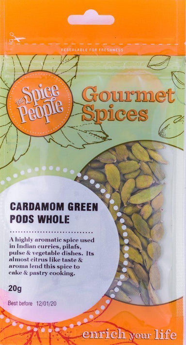 The Spice People Cardamon Green Whole Pods 15g-The Spice People-Fresh Connection