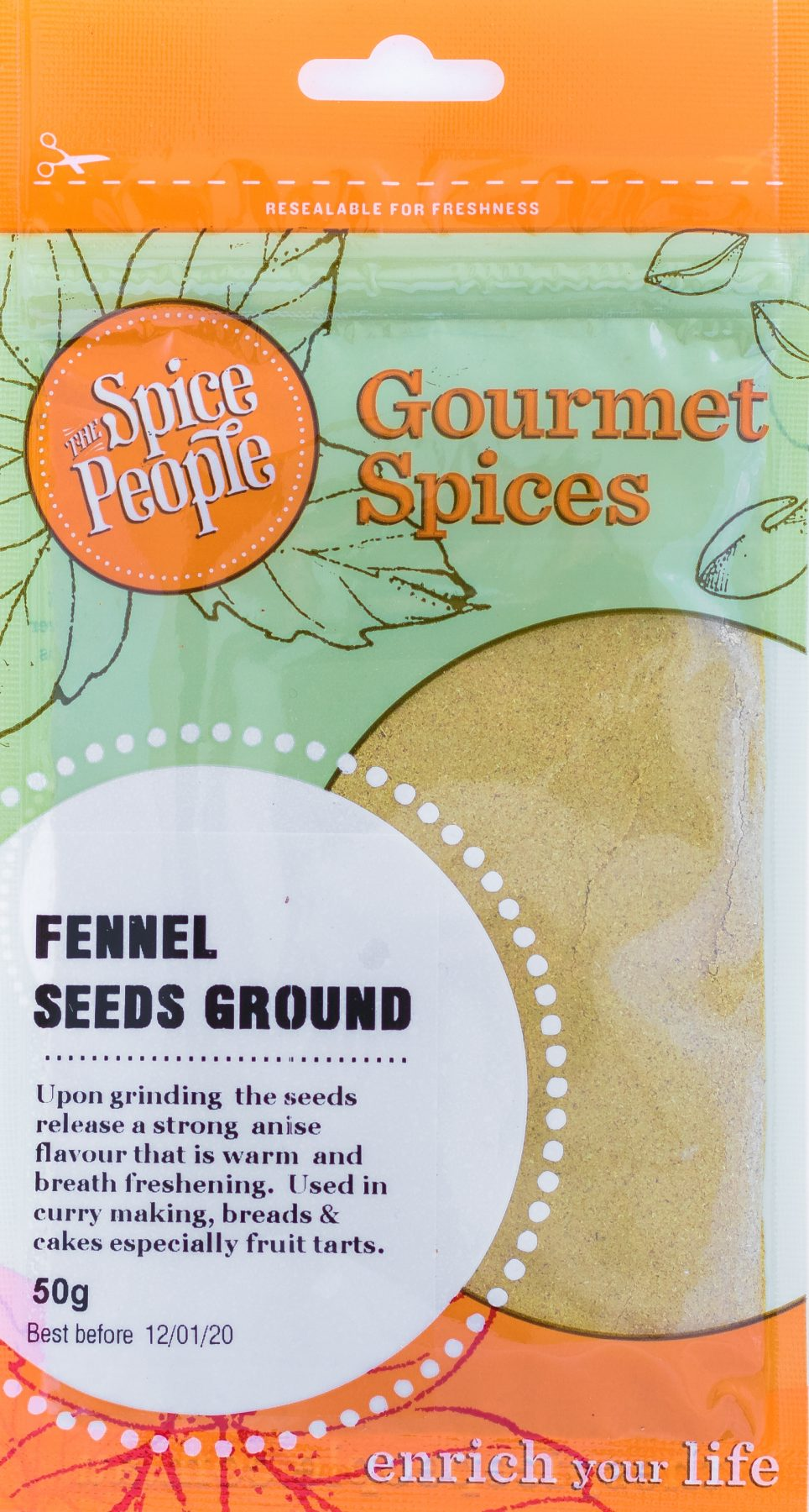 The Spice People Fennel Seeds Ground 50g-Groceries-The Spice People-Fresh Connection