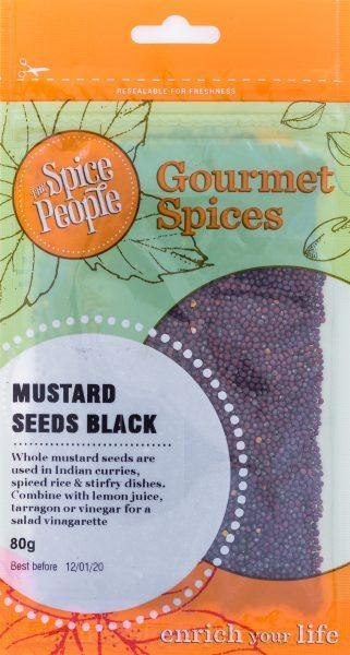 The Spice People Mustard Seeds Black 80g-The Spice People-Fresh Connection