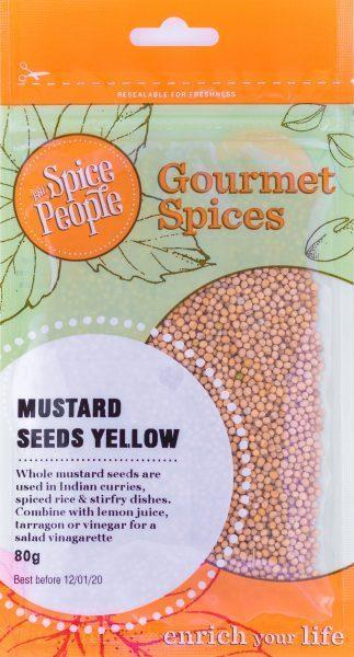 The Spice People Mustard Seeds Yellow 80g-The Spice People-Fresh Connection