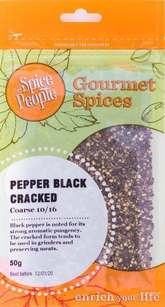 The Spice People Pepper Black Cracked 50g-The Spice People-Fresh Connection