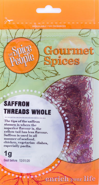 The Spice People Saffron Threads Whole 1g-Groceries-The Spice People-Fresh Connection