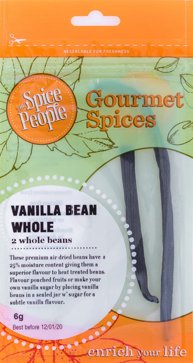 The Spice People Vanilla Whole (2 Whole Beans) 6g-Groceries-The Spice People-Fresh Connection
