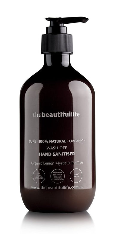 Thebeautifullife Hand Sanitiser - Organic Lemon Myrtle & Tea Tree 500 ml-Groceries-The beautiful life-Fresh Connection