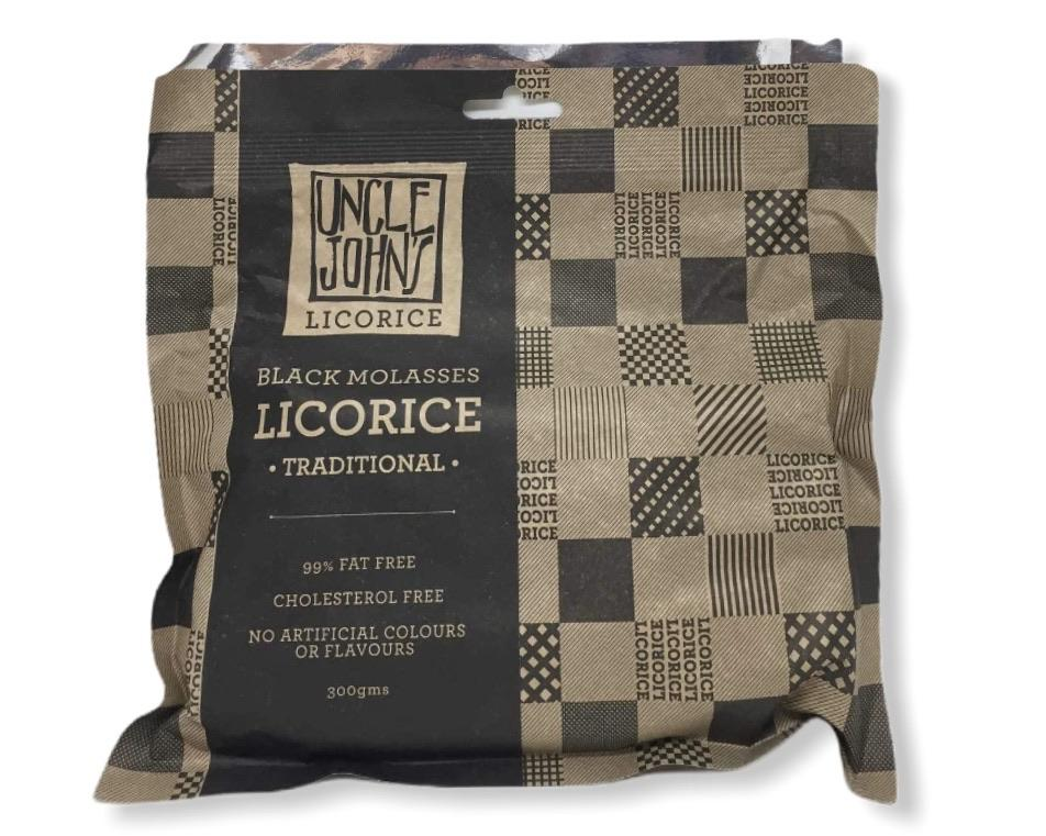 Uncle John's Fresh Licorice 300g-Groceries-Uncle John's-Fresh Connection