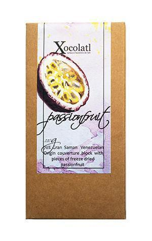 Xocolatl Passionfruit Passionfruit Block, Dark - 110g-Xocolatl-Fresh Connection
