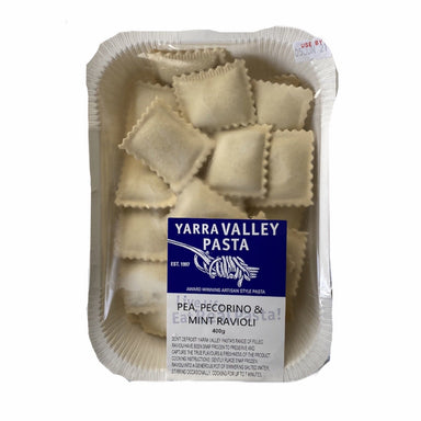 YARRA VALLEY PASTA Pea, Pecorino & Mint Ravioli 400g-Groceries-Yarra Valley Pasta-Fresh Connection