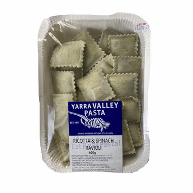 YARRA VALLEY PASTA Ricotta & Spinach Ravioli 400g-Groceries-Yarra Valley Pasta-Fresh Connection