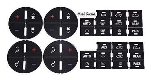 Dash Doctor. The Original AC Button Repair Decal Kit. 2007-2014 GM Chevrolet GMC Cadillac Buick