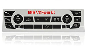 Worn BMW AC Button Repair Kit for Most 328i 335i 325i 335xi BMW 3 Series Models with Like Climate Controls