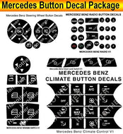 Mercedes Benz Button Repair Decals Premium Package Steering AC Window Radio