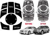BMW iDrive Repair Kit Replacement Decal Kit - Fits All BMWs With iDrive Panel!
