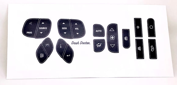 Steering And AC Decal Combo Repair Kit For 2000-2006 GM