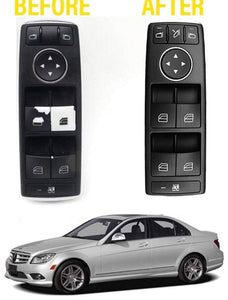 Window Switch Button Repair Decals For 2008-2014 Mercedes Benz W204 C300 C350