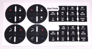 2007-2015 GM Air Conditioning/Heating Control Button Restoration Decal Set!