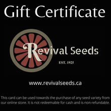 Revival Seeds Gift Certificate