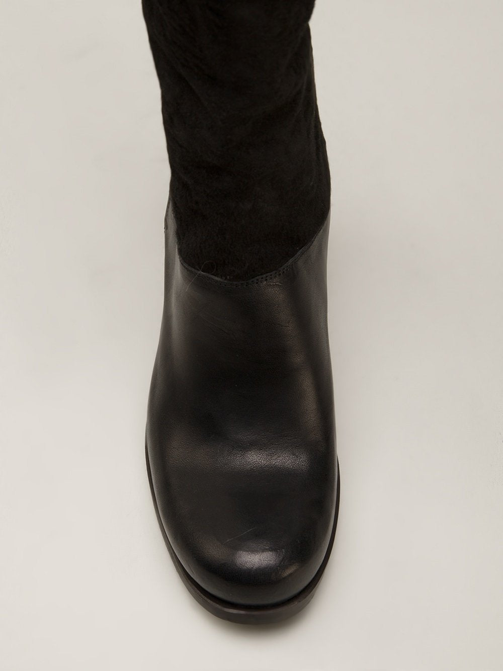 Shearling Panel Boots